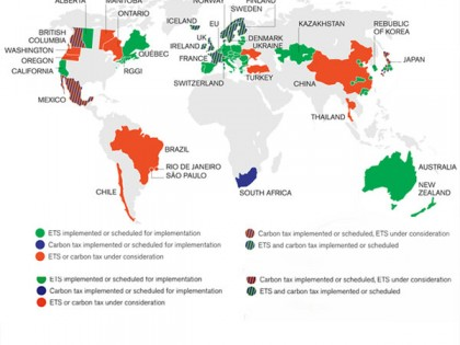 State & Trends Report Charts Global Growth of Carbon Pricing